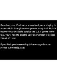 Hulu VPN-Sperre