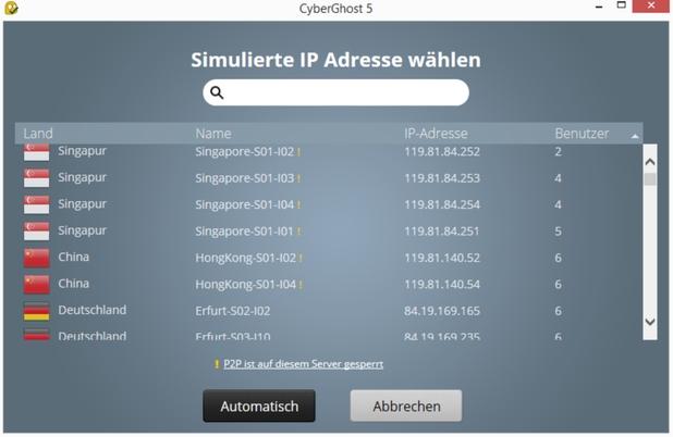 CyberGhost 5 Server